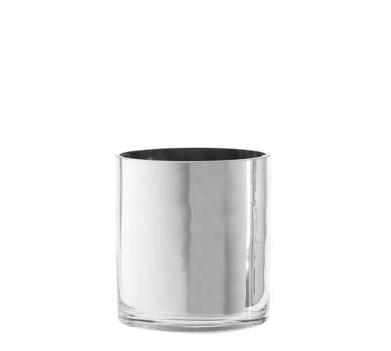 Silver Monroe Vase - Small - Pottery Barn