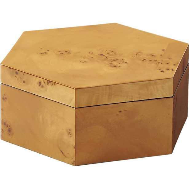 burlwood large storage box - CB2