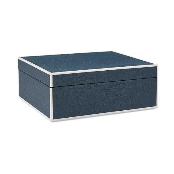 Faux Shagreen Box, Blue - Large - Williams Sonoma Home