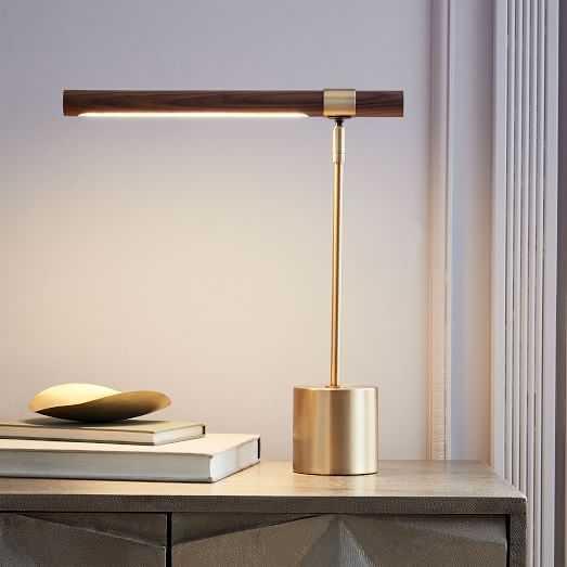 Linear Wood LED Table Lamp - West Elm