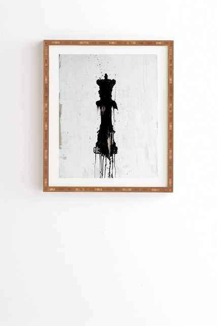 """QUEEN Wall Art - 14"""" x 16.5"""" - Bamboo Frame - Wander Print Co."""
