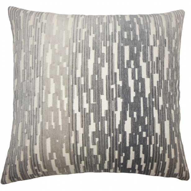Yohance Geometric Pillow - With Insert - Linen & Seam