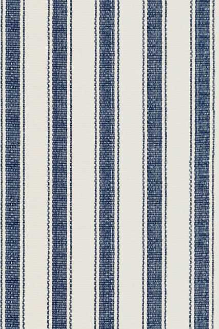 BLUE AWNING STRIPE WOVEN COTTON RUG - 6' x 9' - Dash and Albert