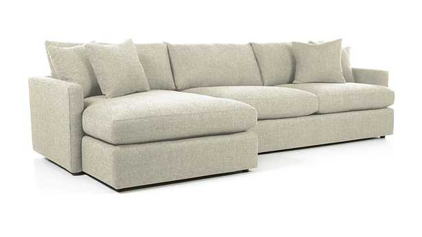 Lounge II 2-Piece Sectional Sofa - Taft Cement - Crate and Barrel