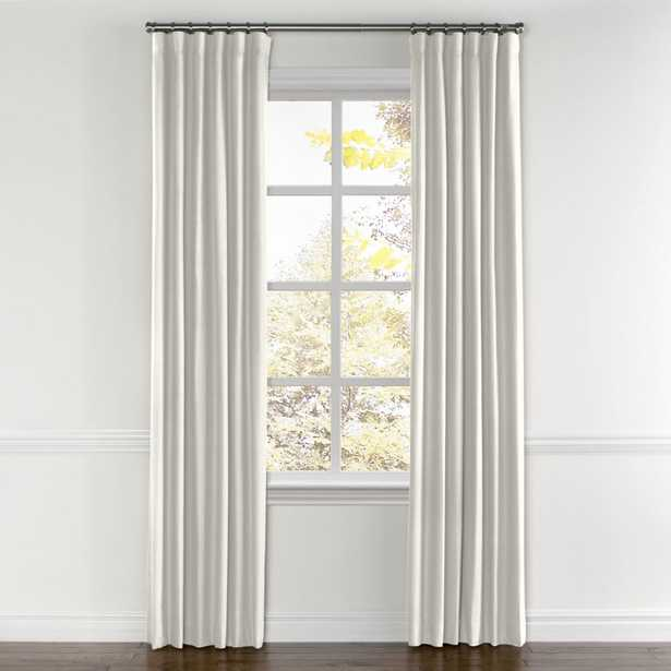 """Ivory Linen curtain, ring top - Cotton Lining, 96""""L x 50""""W - Loom Decor"""