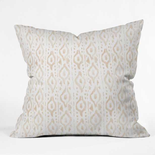 """DESERT LINEN Throw Pillow - 20"""" x 20"""" - Polyester Insert - Wander Print Co."""