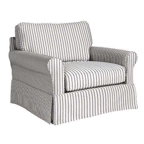 Baldwin Club Chair Slipcover and Frame - Ballard Designs