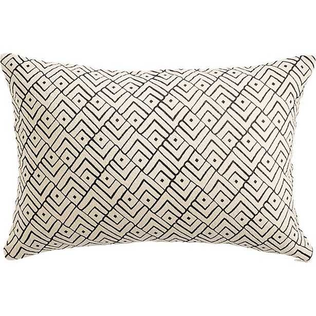 "triangle lattice 18""x12"" pillow - Feather Down Insert - CB2"