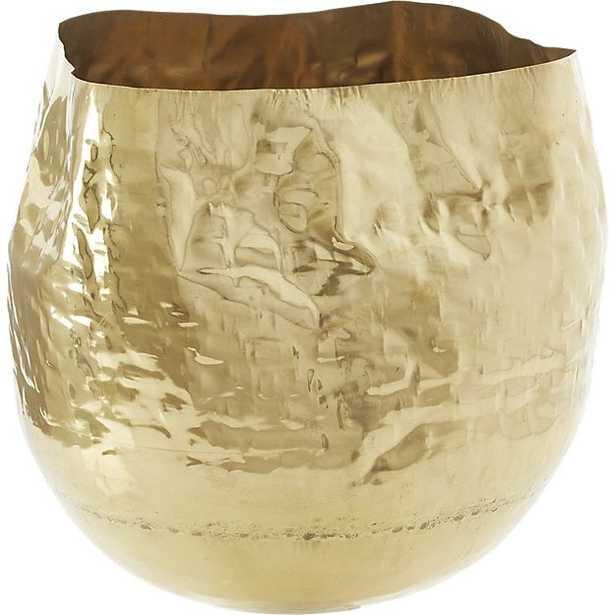 liquid large brass basket - CB2