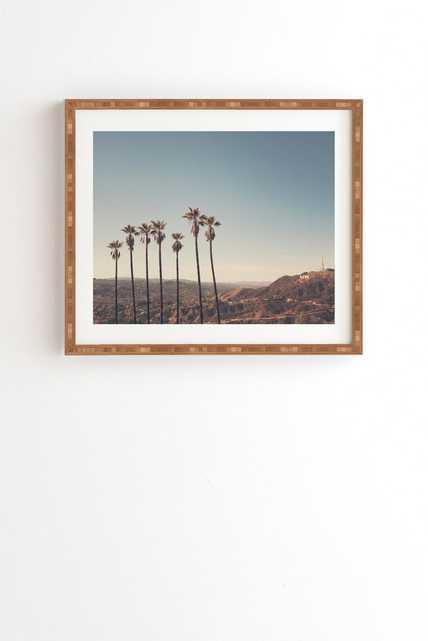 "HOLLYWOOD HILLS - Bamboo frame - 11"" x 13"" - Wander Print Co."