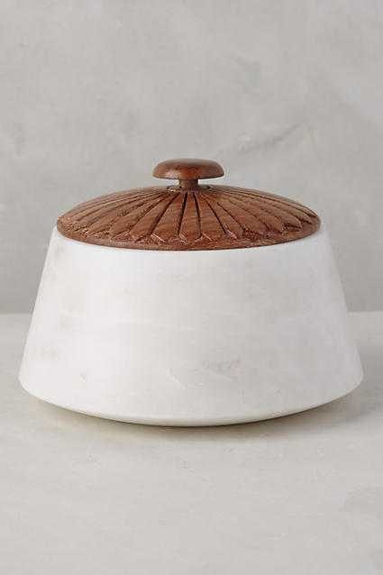 Marble Bath Canister- Short - Anthropologie
