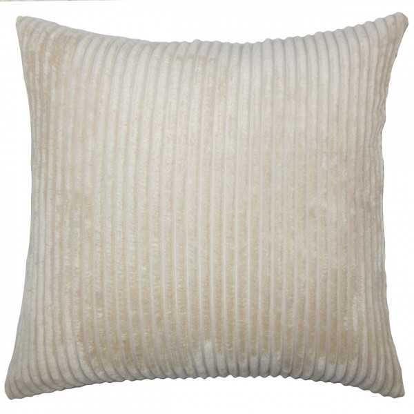 """Calvine Solid Pillow Natural - 20"""" x 20""""- down pillow insert - Linen & Seam"""