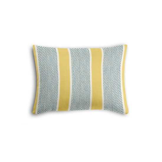 SIMPLE BOUDOIR PILLOW -Chantilly Stripe - Custard - 12'' x 16''-poly insert - Loom Decor