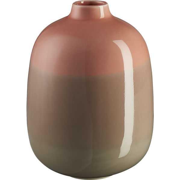 Dusk stripe vase - CB2