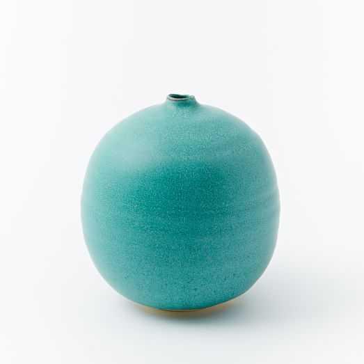 Judy Jackson Vase - Round - Turquoise - West Elm