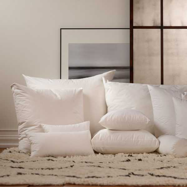 """Havenly Recommended Basic: Down Pillow Insert - 22"""" x 22"""" - Noble Feather Co."""