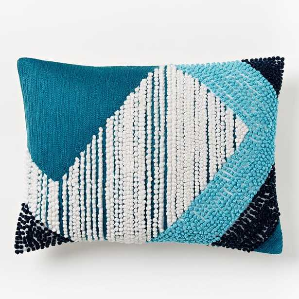 """Striped Angled Crewel Pillow Cover - 12"""" x 16"""" - Insert Sold Separately - West Elm"""