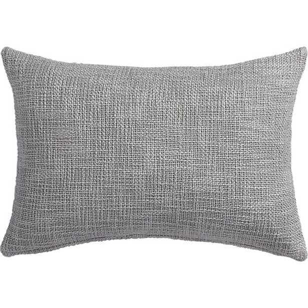 "18""x12"" glitterati silver pillow with down-alternative insert - CB2"