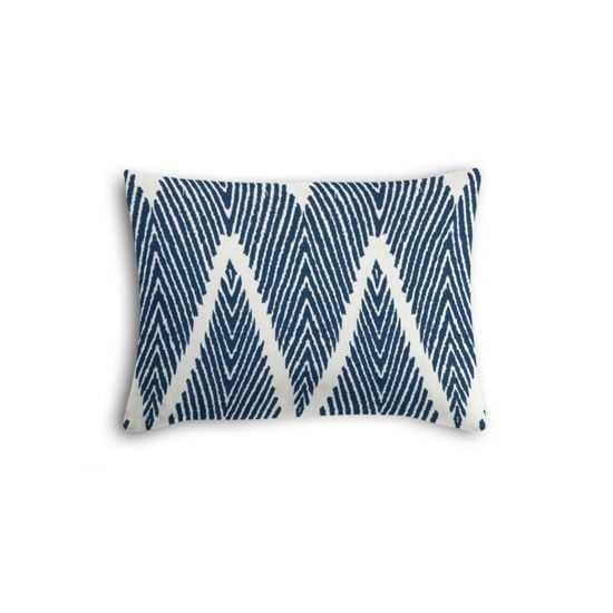 Tribal Navy Blue Chevron Boudoir Pillow - Loom Decor