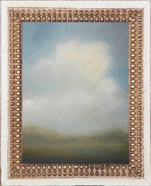 MIsted Morning - 8 x 10 Distressed cream double bead wood no mat - Artfully Walls