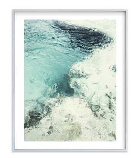 Blue Monday, Silver Brushed frame, 16x20 - Minted