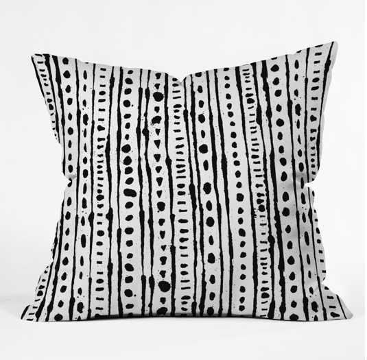 """INK STRIPE Throw Pillow By Andi Bird 20 x 20"""" with insert - Wander Print Co."""