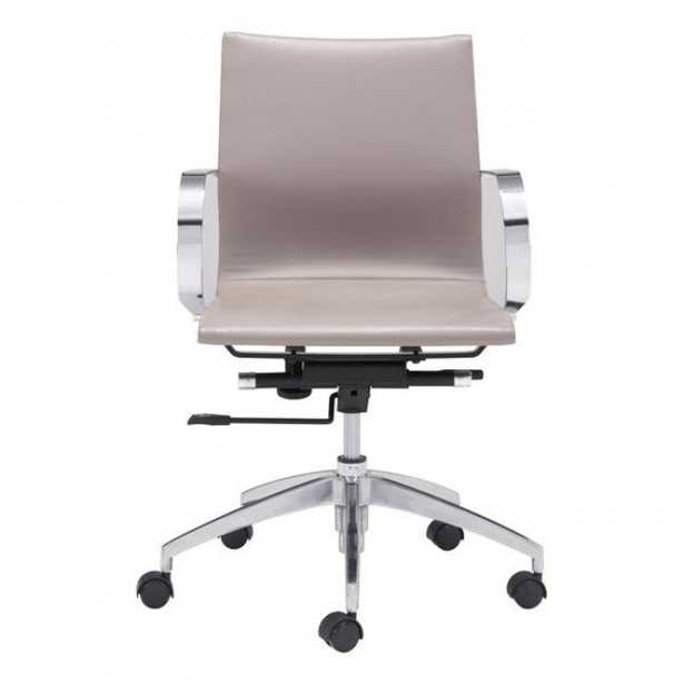 Glider Low Back Office Chair Taupe - Zuri Studios