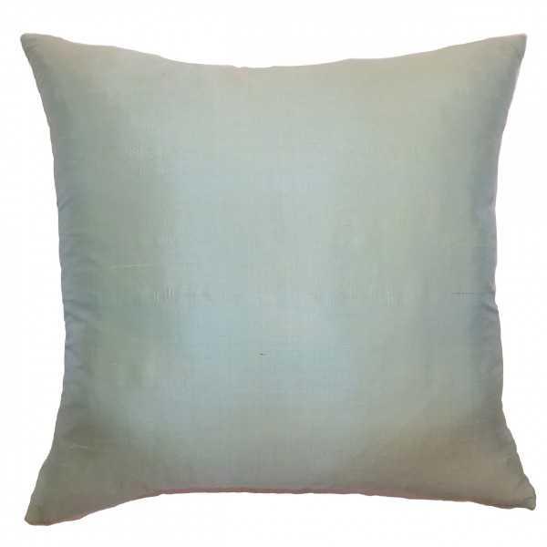 """Constance Solid Pillow Seafoam- 18"""" x 18""""- Down Insert - Linen & Seam"""