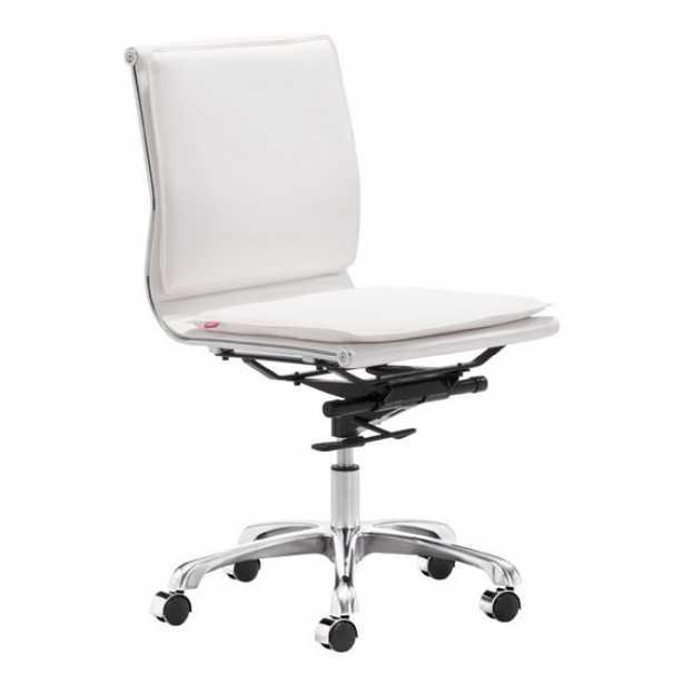 Lider Plus Armless Office Chair, White - Zuri Studios