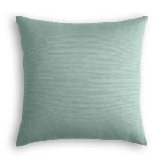 "Outdoor Pillow - Sunbrella® Canvas - Spa - 20""x20"" - Poly FIber Insert - Loom Decor"