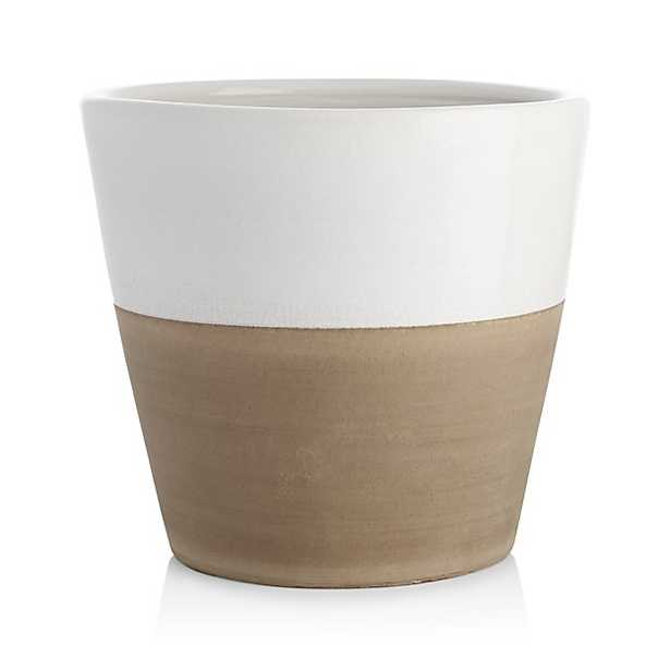 Carnivale Large White Planter - Crate and Barrel
