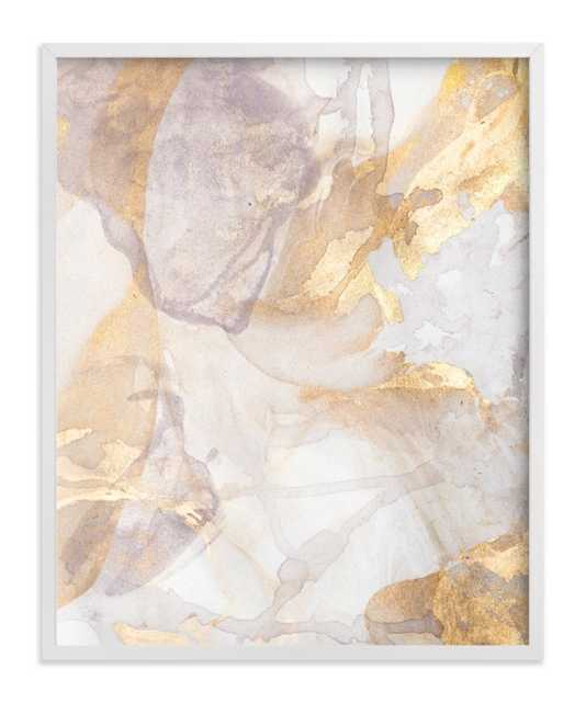 """Soft Shimmer No. 2 - 11"""" x 14"""" - Classic White Frame, standard - no mat - Minted"""