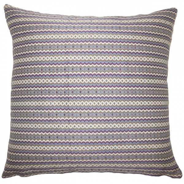 "Keften Geometric Pillow Violet-18""x18""-  Blue, violet and white-high-fiber polyester pillow insert - Linen & Seam"