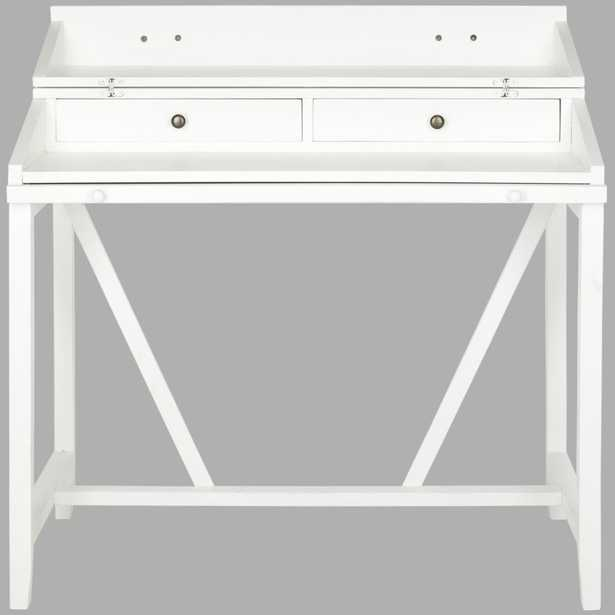 Wyatt Writing Desk W/Pull Out- White - Arlo Home