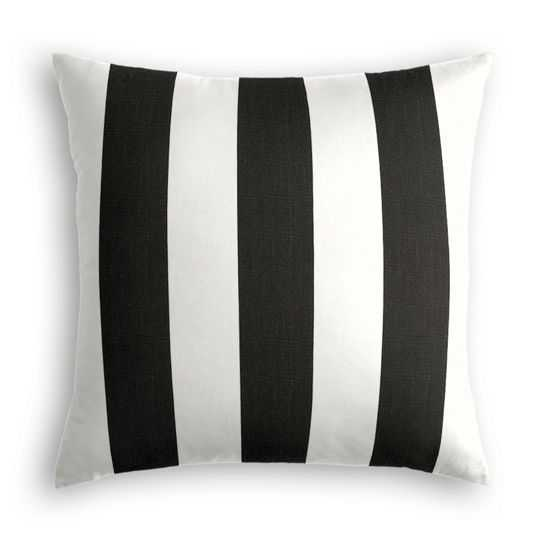 Awning stripe outdoor pillow - 18 x 18 - Poly Insert - Loom Decor