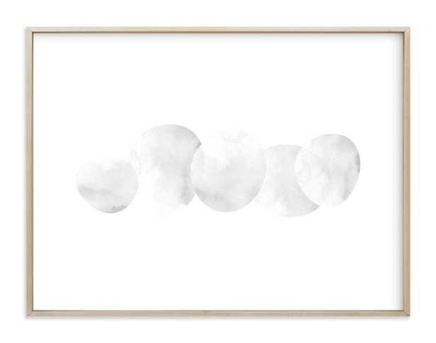 "Stepping stones Art Print - 40"" x 30"" -  Stone - Matte Brass Frame - white border - Minted"