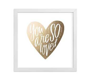 So Loved Heart Wall Art by Minted(R) 8x8, White - Pottery Barn Kids
