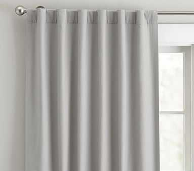 """Quincy Cotton Canvas Blackout Curtain/  84"""" / Gray - Pottery Barn Kids"""