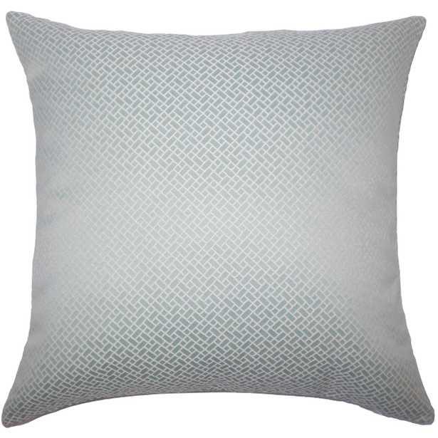 "Pertessa Geometric Pillow - 20"" x 20"" -  Down insert included - Linen & Seam"