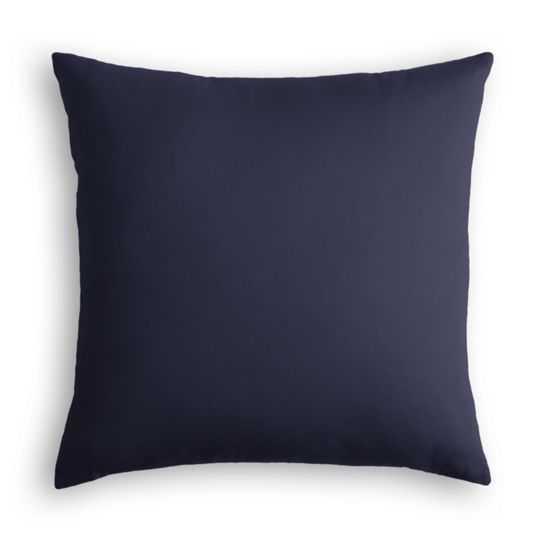 "Throw Pillow  Sunbrella® Canvas - Navy - 20"" Square - Down Insert - Loom Decor"