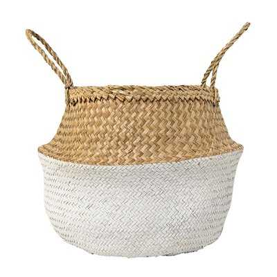 Seagrass Basket with Handles - White - Wayfair