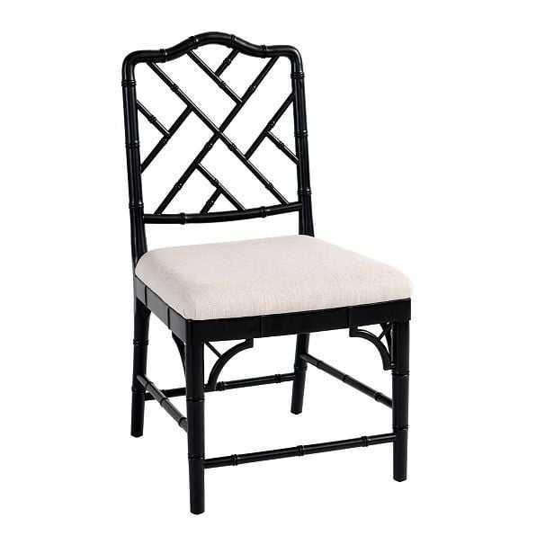 Set of 2 Dayna Side Chairs - Worn Black - Ballard Designs