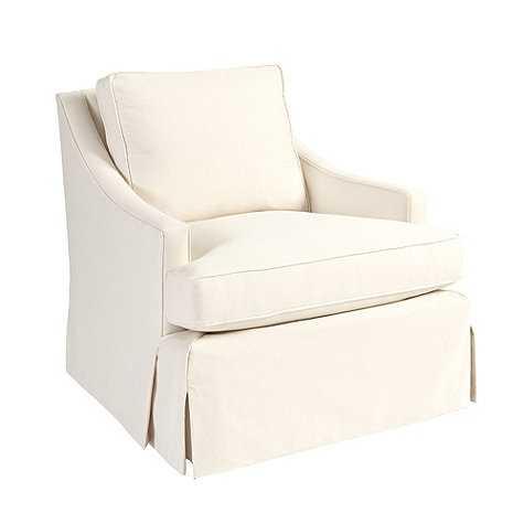 Candace Chair - Washable Velvet Chalk - Ballard Designs