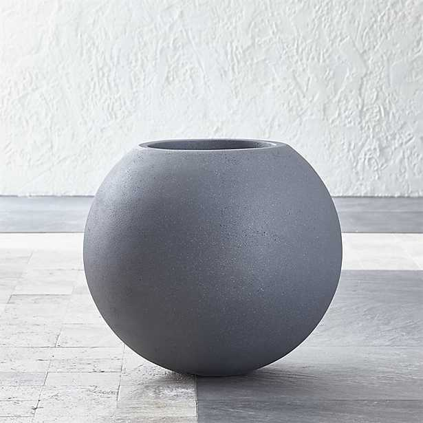 Small Grey Ball Planter - Crate and Barrel