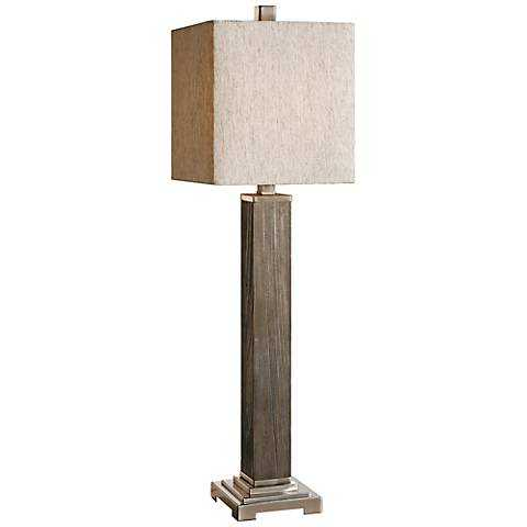 Uttermost Medea Aged Wood Table Lamp - Lamps Plus