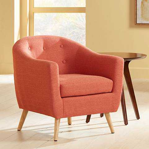 Rockwell Upholstered Accent Chair orange - Lamps Plus