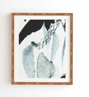 """ABSTRACTM5 Wall Art - 9"""" x 10.5"""""""" - Natural Bamboo Frame - Wander Print Co."""