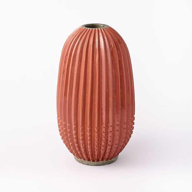 Rustic Pure Vase Orange Pill - West Elm