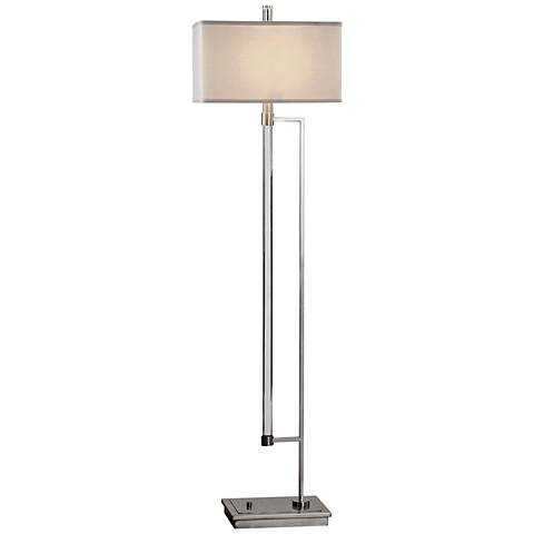Uttermost Mannan Acrylic Rod and Polished Nickel Floor Lamp clear - Lamps Plus