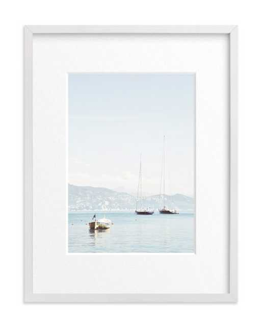 Portofino afternoon - 18x24 - White Wood Frame - Matted - Minted